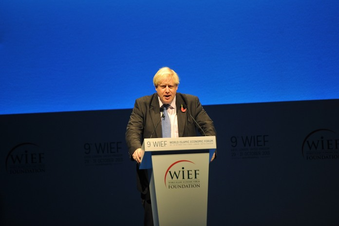 London Mayor Boris Johnson addresses the World Islamic Economic Forum. [Getty Images for 9th World Islam]