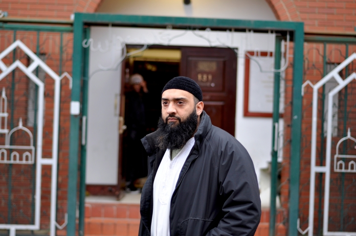 Usman Ali. pictured outside the Greenwich mosque from which he is banned. [Simon Hooper]