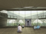 An architectural sketch of the interior of the mosque [Courtesy FIF/Metin Aydin]