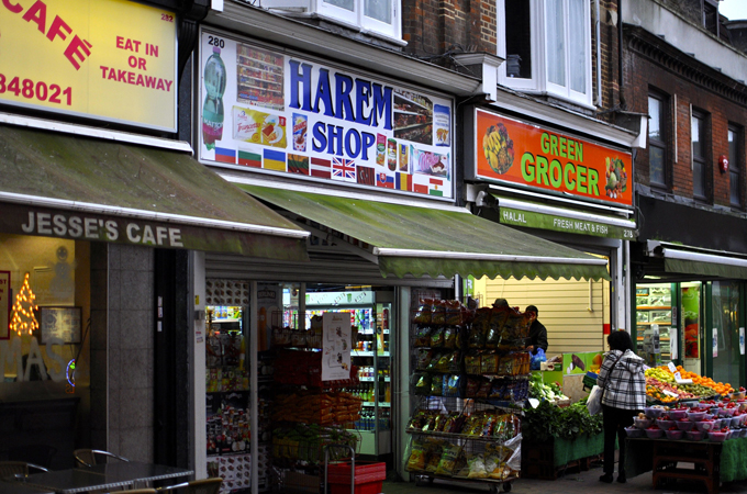 New shops catering to migrant tastes are re-shaping Chatham's high street. [Simon Hooper]