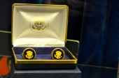 Cufflinks presented to Elvis by US President Richard Nixon [Simon Hooper]